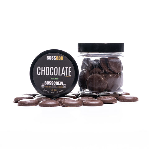 BOSS Dark Mint Chocolates 25pcs  250mg CBD