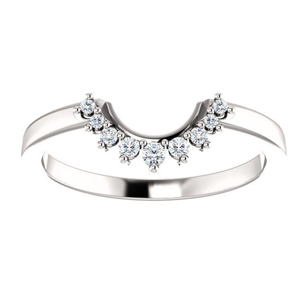 Diamond Wedding Band | For Vintage Round Diamond with Baguette Halo Engagement Ring