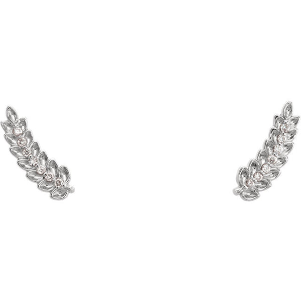Diamond Leaf Ear Climbers