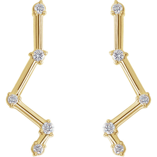 Diamond Constellation Ear Climbers