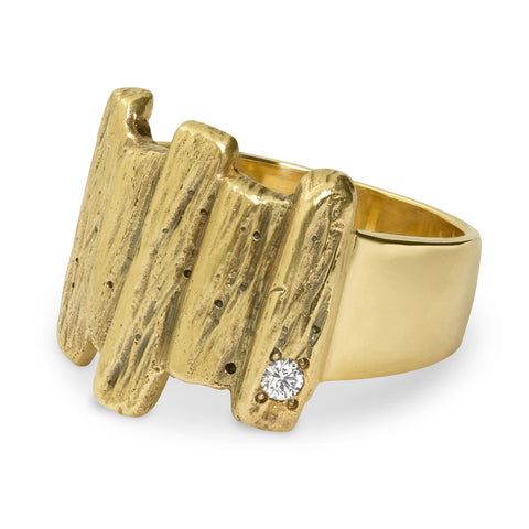 Rustic Sequoia Ring from San Diego Jeweler Allison Neumann