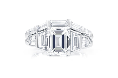 Emerald Cut Diamond Engagement Ring Set at Allison Neumann Fine Jewelers