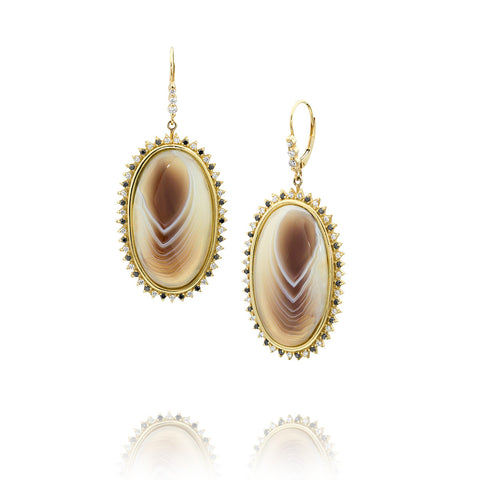 Allison Neumann San Diego Jeweler Botswana Agate Earrings