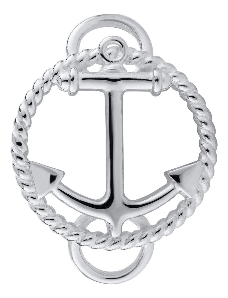 Anchor with Rope Sterling Silver Convertible Clasp