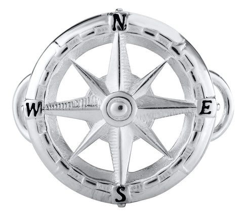 Compass Rose Sterling Silver Convertible Clasp