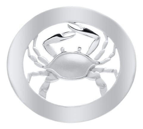 Oval Frame with Crab Sterling Silver Convertible Clasp