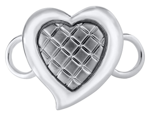 Quilted Heart Sterling Silver Convertible Clasp