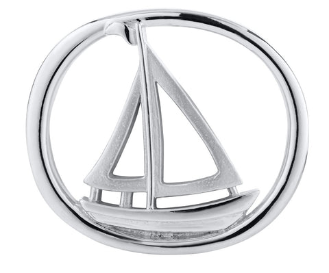 Racing Sailboat Sterling Silver Convertible Clasp