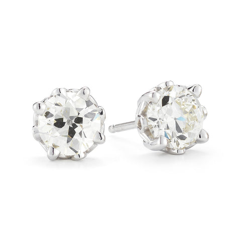 Old Euro Diamond Earrings Antique Diamond Earrings Allison Neumann Fine Jewelers