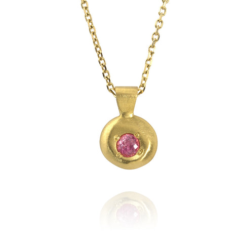 Raindrop Pink Sapphire Necklace