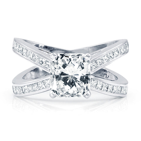 3 CTW Radiant Cut Diamond Engagement Ring