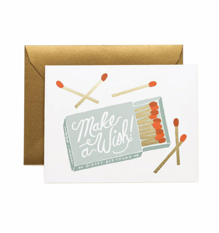 Rifle Paper Make a Wish Birthday Card