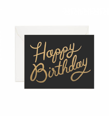 Shimmering Celebration Birthday Card