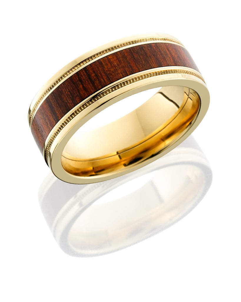 Lashbrook 18K Cocobolo Wood Wedding Band
