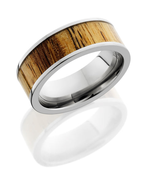Lashbrook 14K White Gold Spalted Tamarind Wedding Band