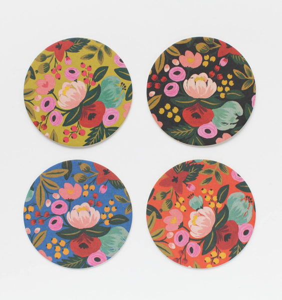 Rifle Paper San Diego Botanical Floral Coaster Set