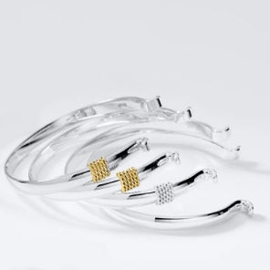 Convertible Bracelet - SS with 14K Yellow Gold Rope Accent