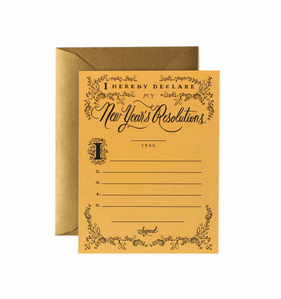 Rifle Paper Resolution Constitution Greeting Card