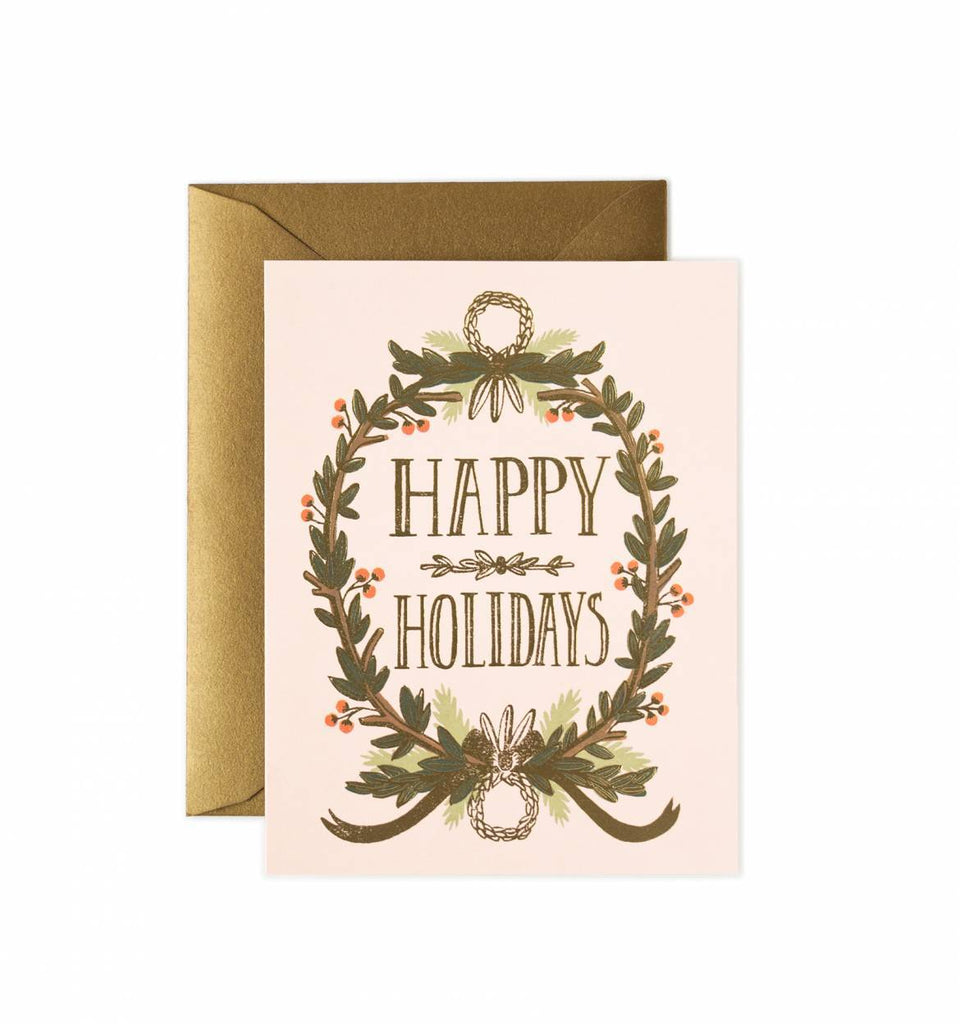 Rifle Paper Holiday Garland Greeting Card