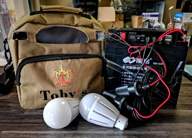 TOBY'S BATTERY PACK WITH 2X 5W BULBS
