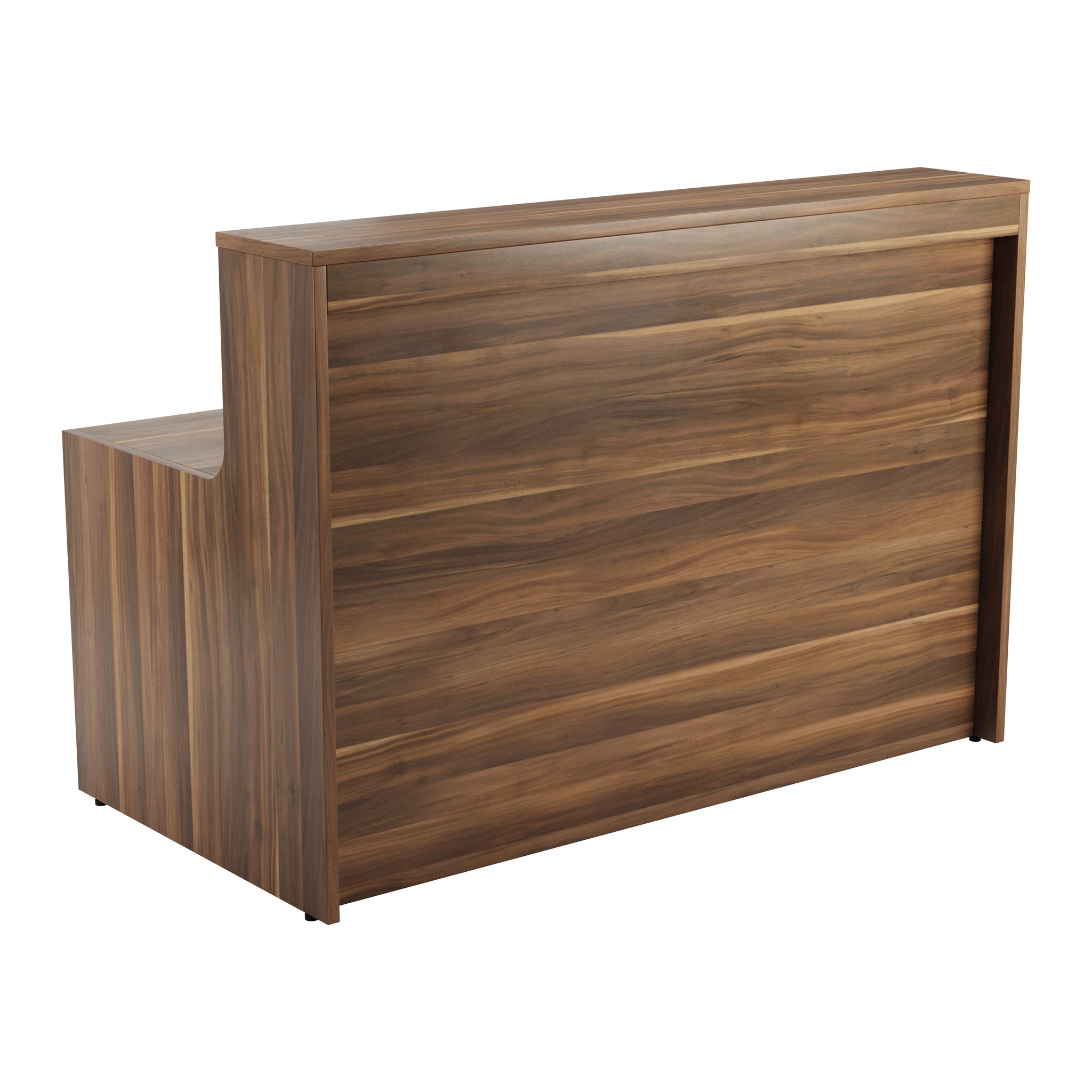 Simple Reception Desk 1600mm x 800mm - Walnut