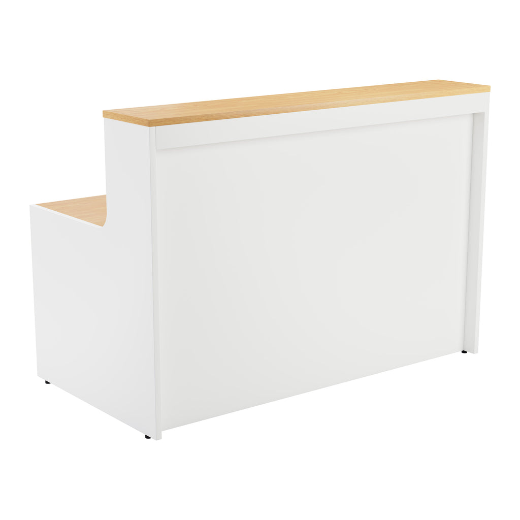 Simple Reception Desk 1600mm x 800mm - Oak