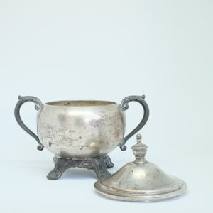 Silver Creamer with Lid