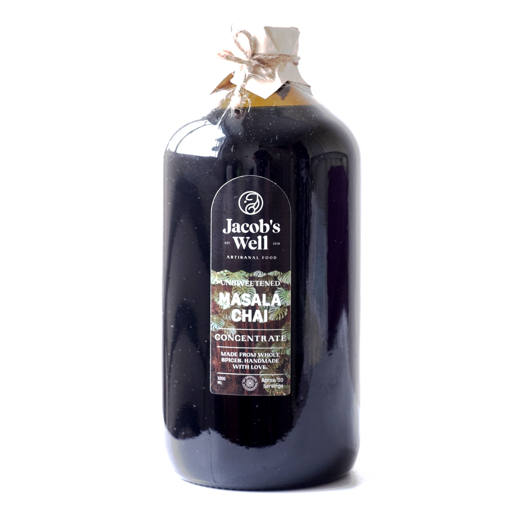 Jacob's Well Chai 1 Liter - Unsweetened Version (Vegan)