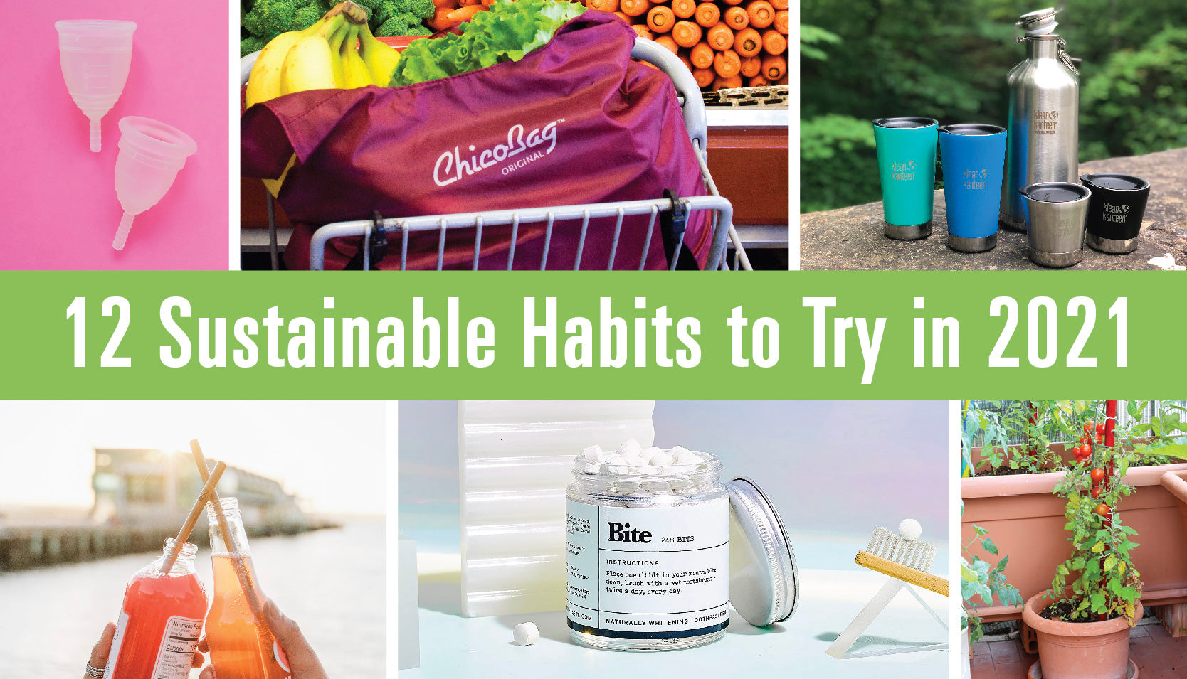 12 Sustainable Habits to Try in 2021