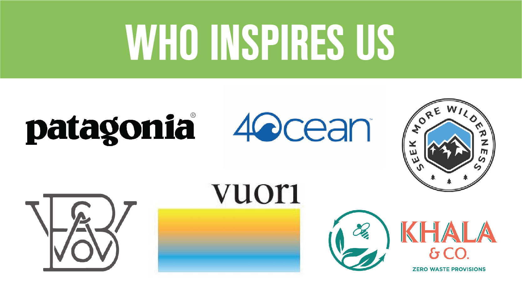 Who Inspires Us: Resolutions from Six Sustainable Businesses