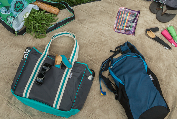 ChicoBag Travel Pack and Nomad Shoulder Tote are Great for Picnics and Outdoor Activites.