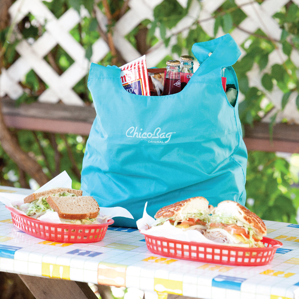ChicoBag Aqua original reusable bag is perfect for keeping your lunch single-use free