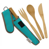 To-Go Ware Classic Agave color reusable bamboo utensil set with fork knife spoon and chopsticks