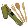 To-Go Ware Classic Avocado Green color reusable bamboo utensil set with fork knife spoon and chopsticks