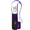 ChicoBag Bottle Sling Amethyst Purple rePETe hands-free Cross Body reusable bottle holder That Stuffs Into its built-in pouch and made from recycled plastic bottles On a White Background