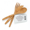 To-Go Ware Reusable Bamboo Fork knife spoon set with barcode and banded together