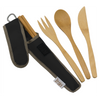 To-Go Ware Classic Hijiki Black color reusable bamboo utensil set with fork knife spoon and chopsticks