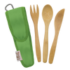 Kids Bamboo Utensil Set Kiwi } To-GoWare
