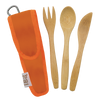 Kids Bamboo Utensil Set Orange } To-GoWare