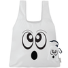 Machine Washable Halloween White Ghost Reusable Original ChicoBag that stuffs into its built in pouch on A White Background
