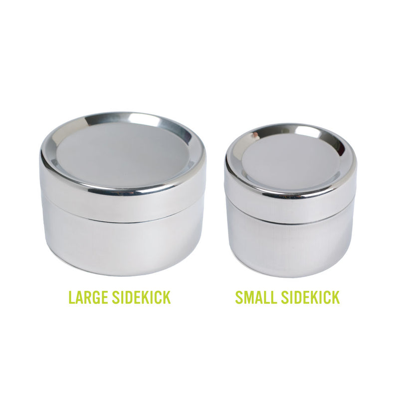 Large Stainless Steel Sidekick machine washable and oven safe reusable container 1 cup capacity