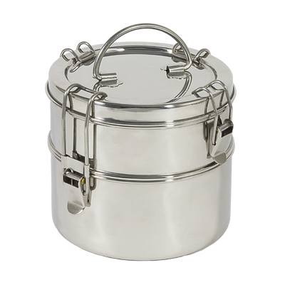 To-Go Ware 2-tier Stainless Steel Tiffin reusable oven and dishwasher safe food container