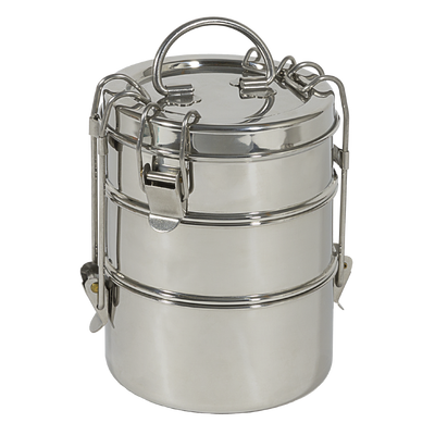 To-Go Ware 3-tier Stainless Steel Tiffin reusable oven and dishwasher safe food container
