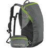 ChicoBag StormFront Grey Travel pack rePETe lightweight backpack That Stuffs Into its built-in pouch and made from recycled plastic bottles On a White Background