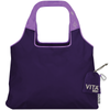 ChicoBag Vita Serenity Purple rePETe Reusable Shoulder Tote That Stuffs Into its built-in pouch and made from recycled plastic bottles On a White Background