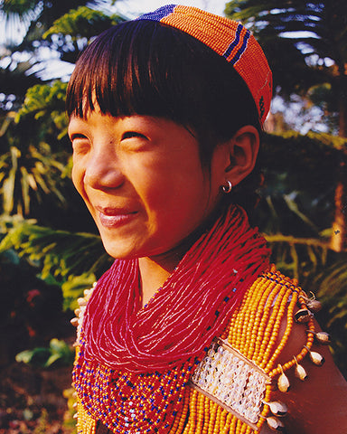 Image of a tribal girl from India's Northeast, where Aienla Project specializes in research.