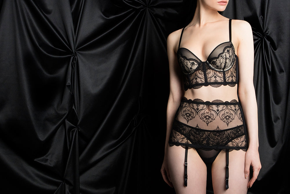 tragic kiss luxury lingerie charlotte spade of hearts set