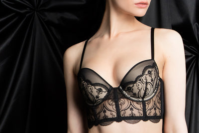 Tragic Kiss luxury lingerie charlotte spade of hearts bra