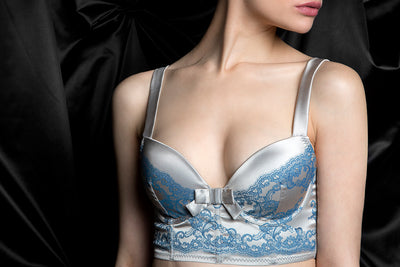 tragic kiss luxury lingerie raven blue envy bra