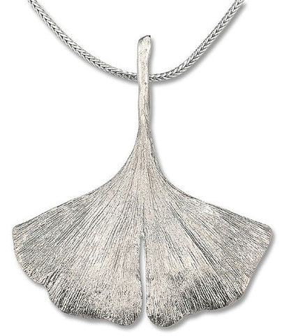 Ginkgo-Collier in 925er-Sterlingsilber - Bild 1